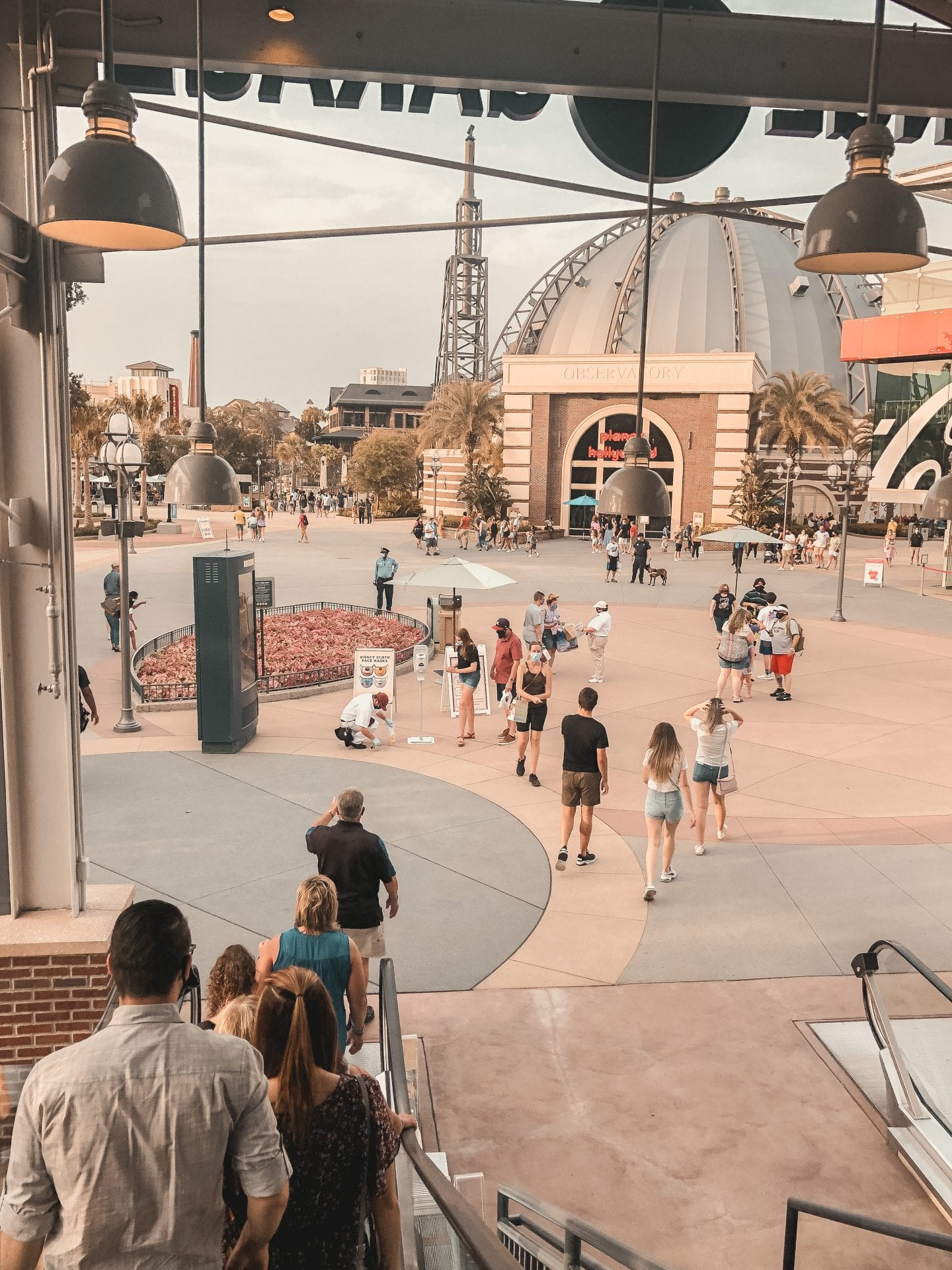 Disney Springs crowds during COVID-19